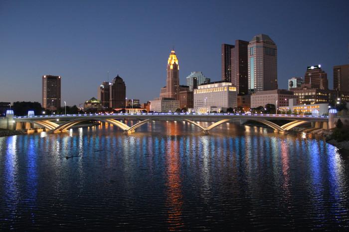 5) Columbus skyline