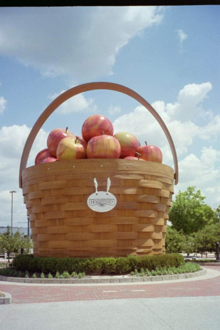 Because the world's largest basket wasn't enough—we had to also make sure we had the world's largest apple basket (located in Frazeysburg.)