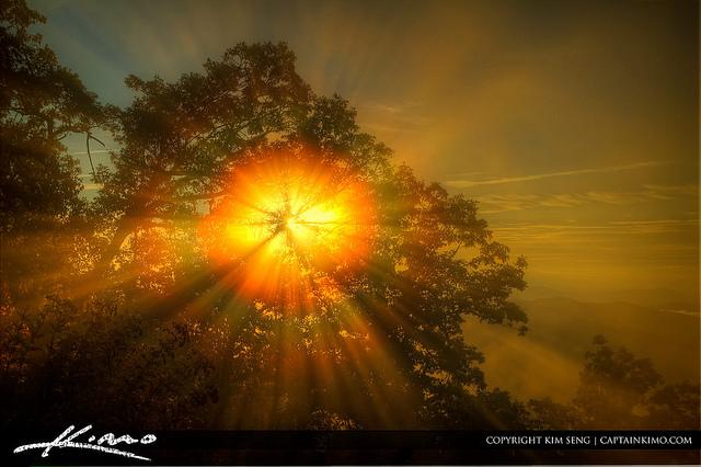 18. A foggy sunburst