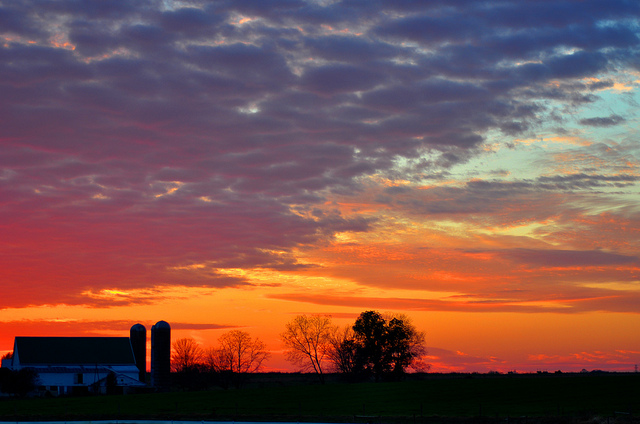 1. The silhouette of this farm in Williamstown captures the beauty of Pennsylvania countryside.