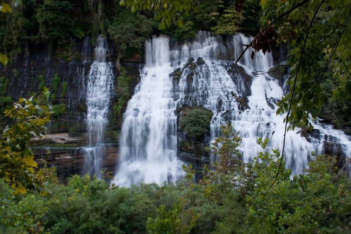 18) Twin Falls is a man-made waterfall that graces Rock Island State Park and rushes from the foot of an age old cotton mill.