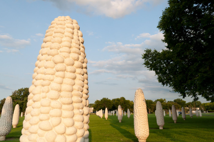 """Because here in Ohio we have a thing for giant food and corn and Dublin took the """"world's largest corn field"""" concept to a whole other level."""