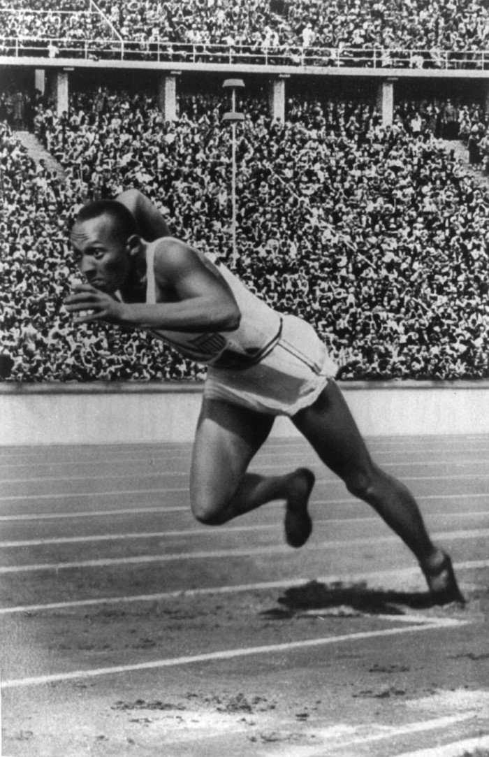 11) When Jesse Owens showed us how a gold medal is won.