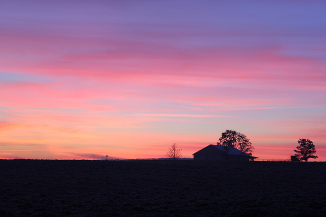 16. The Berks County sky turns the color of cotton candy.