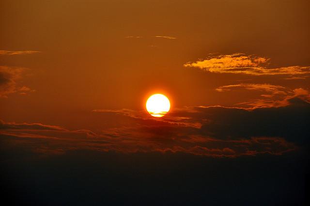 17. The flaming sun descends into Philadelphia.