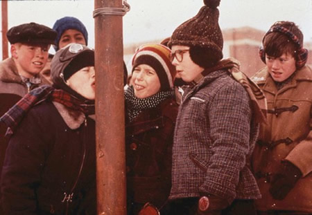 4) A Christmas Story:  OK, so maybe the infamous triple dog dare did not take place on an Ohio school playground, but the state is still home to the family's house featured in this Christmas classic.