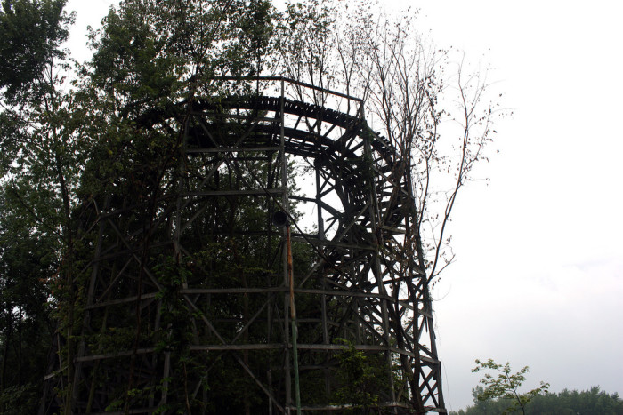 9) Chippewa Lake Amusement Park: Medina County holds the strangest and creepiest destination in my faint of heart and paranormal intolerant opinion. Once a fun-filled, thriving destination is now a long ago forgotten park composed of an eerie, rusted ferris wheel, overgrown shrubs and trees growing inside of still standing roller coasters and numerous decaying booths and kiddie rides. Creepy, guys. CREEPY.