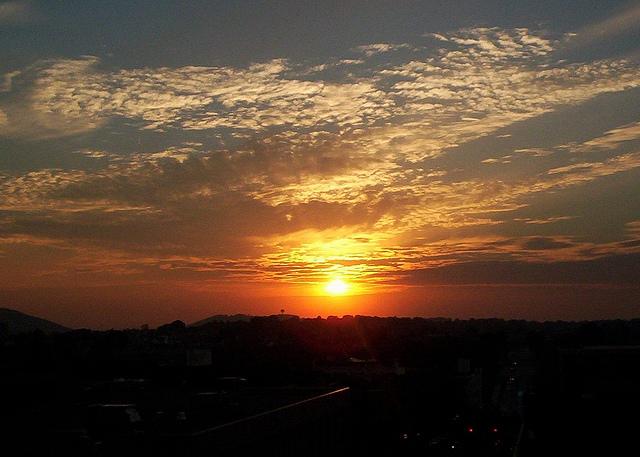 3. The sun disappears beneath the horizon in Bethlehem.
