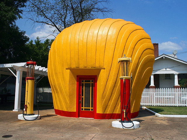 1. The Last Shell Oil Clamshell Station, Winston-Salem