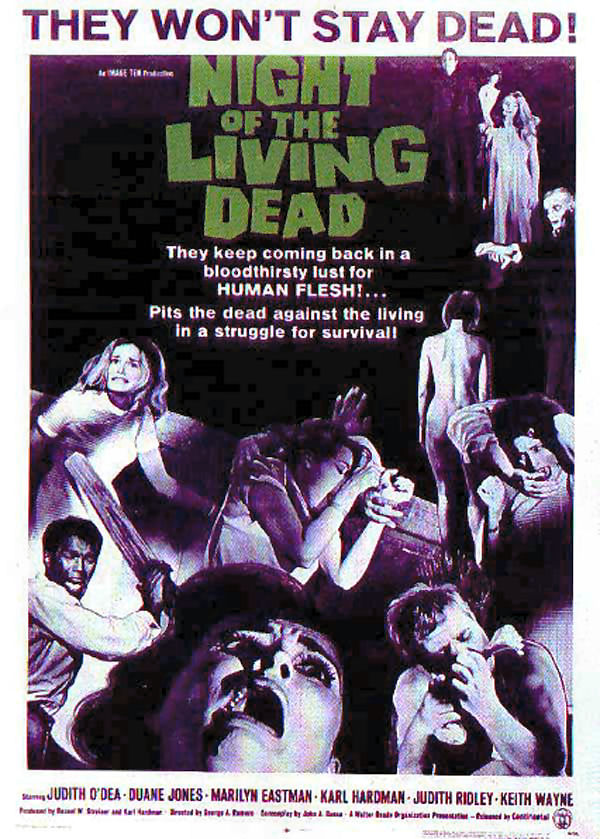 Night of the Living Dead, another classic zombie flick, was filmed in Evans City. The rural land where the movie was filmed is now a turf farm.