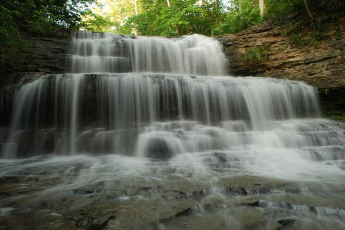 7) Fallsville Falls