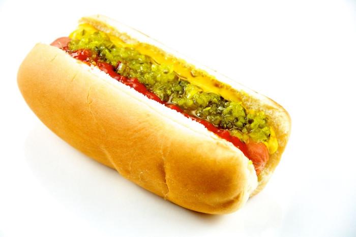 10) Hot dog
