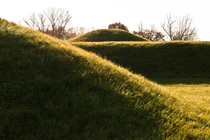 16) Mound City: The Hopewell Culture National Historic Park in Chillicothe is home to the largest area of Indian burial mounds in the world.