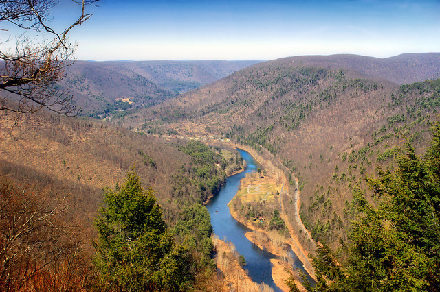 Pine Creek Gorge is sometimes called the Grand Canyon of Pennsylvania, and I bet you can guess why.
