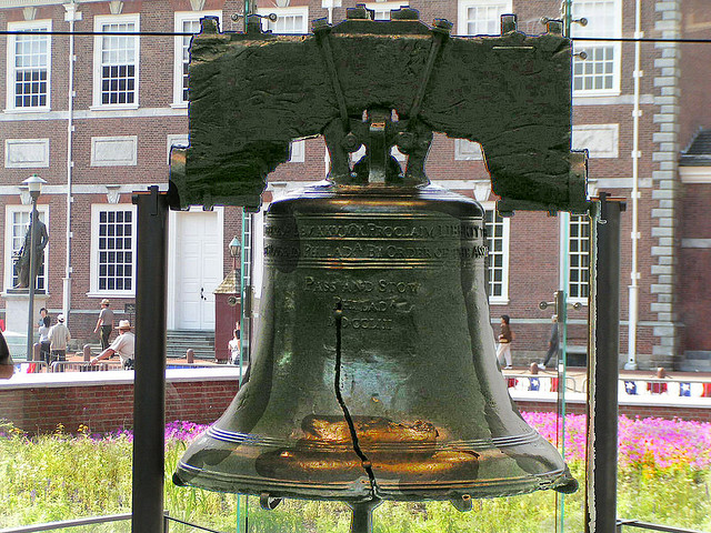 2) Pennsylvania is rife with history, particularly Philadelphia where the Liberty Bell is housed. The Declaration of Independence was signed here, too.
