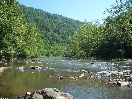 2) The Bluestone River, which is a part of the Mississippi River watershed, is approximately 77 miles long.