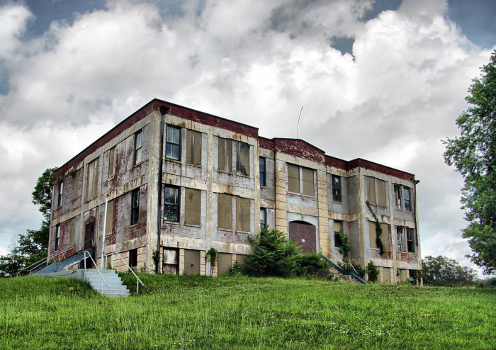 1) An old Cairo High School has started to decay.