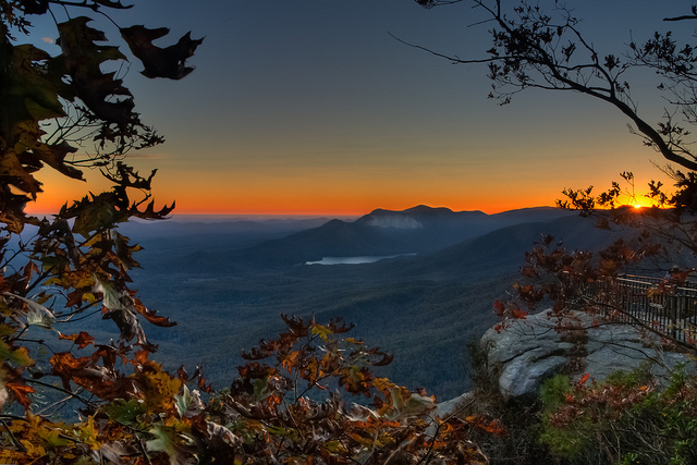 4) Caesar's Head State Park: This stunning view shows not only Table Rock, but also the Pinnacle Mountains as well.