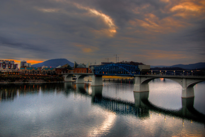 Chattanooga is a river city rife with bridges and hiking trails, the perfect place for that monumental first kiss...or the hundreds that come afterwards, of course.