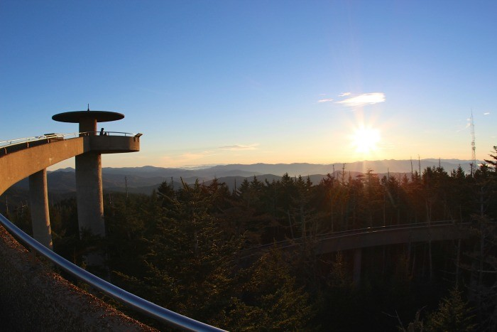 1) Clingmans Dome is the highest point in Tennessee, rivaling the entirety of land east of the Mississippi. It stands at a whopping 6,643 feet and is the perfect place to take in a romantic sunset.