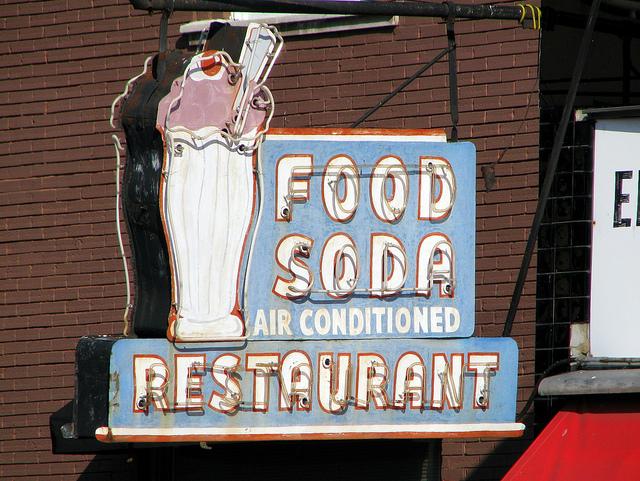 Elliston soda shop neon sign