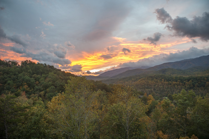 The mountainous vistas of Gatlinburg probably hardly hold a candle to the beauty of your love, but take in a killer sunset and share your first kiss in the second most popular place to marry in the US.