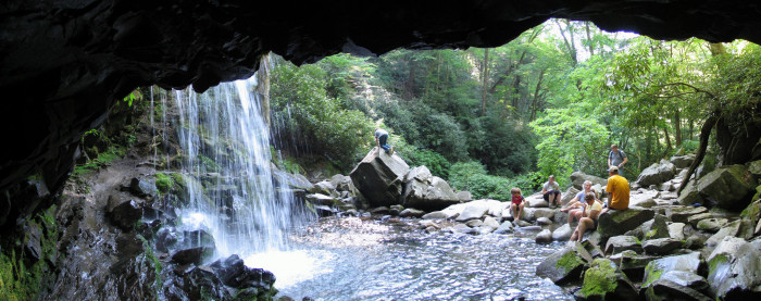7) You're more likely to run into foot traffic at Grotto Falls, and easy trail that appeals to young families and beginners. The 2.6 mile hike culminates in a beautiful waterfall during certain seasons.