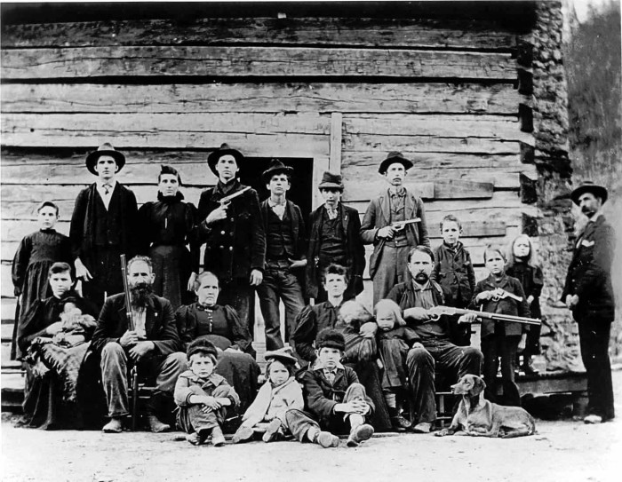 8) The Hatfields and McCoys: two famous families that feuded in the late 1800s.