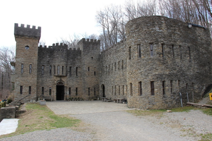 1) The Château Laroche:  We'll start with my personal favorite, which is more commonly known as the Loveland Castle, built by Sir Harry Andrews—brick by brick, literally—in 1927 for the Knights of the Golden Trail. Knighthood is taken very seriously here, and visitors can explore the castle today inside and out for a small fee any day of the week during the months of April-September in Loveland.