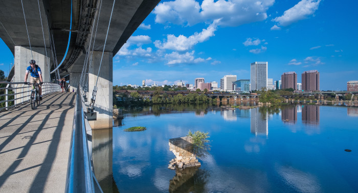 9) The James River through Richmond.