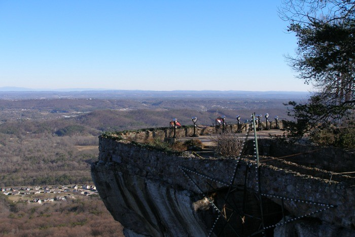 12) Head on over to Chattanooga to spend a minute on Lookout Mountain where the crazy great view claims to touch seven states.