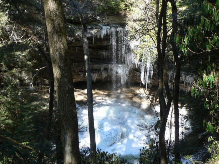 8)Northrup Falls is better known as a part of the Colditz Cove State Natural Area, a large natural area between Nashville and Knoxville. Though the park may be new, that view could never get old.