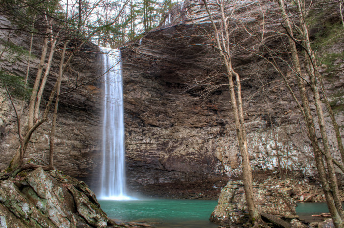 9)Forty-three acres of Cumberland County is reserved as home to Ozone Falls State Natural Area. The gorge and plunging waterfall are the main areas of visitation.