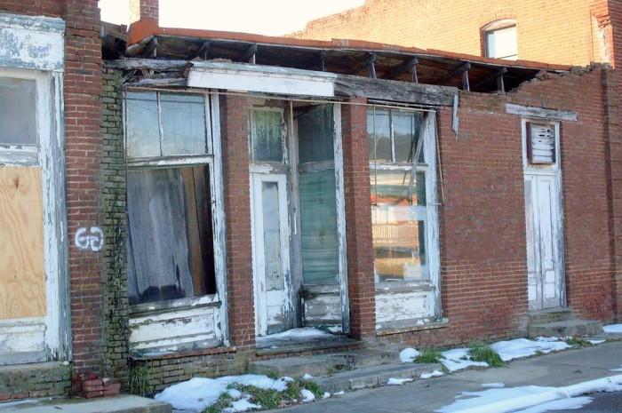 Abandoned Pamplin City Main Street, Prince Edward / Appomattox County