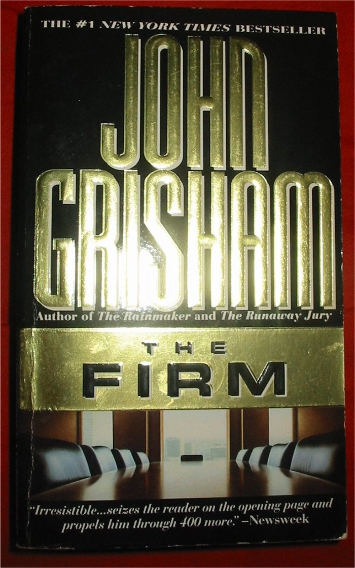 "4) ""The Firm""takes place in Memphis, TN with a newly relocated lawyer at the forefront and Grisham's hard and proven storytelling at the helm."