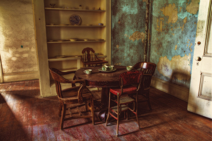 Pictured here is an apartment that would have belonged to the hospital superintendent or the head physician.
