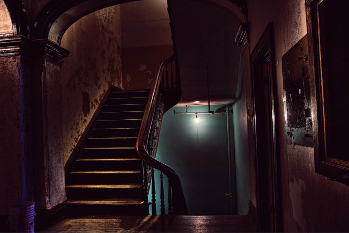 The staircase in the asylum was probably really amazing.