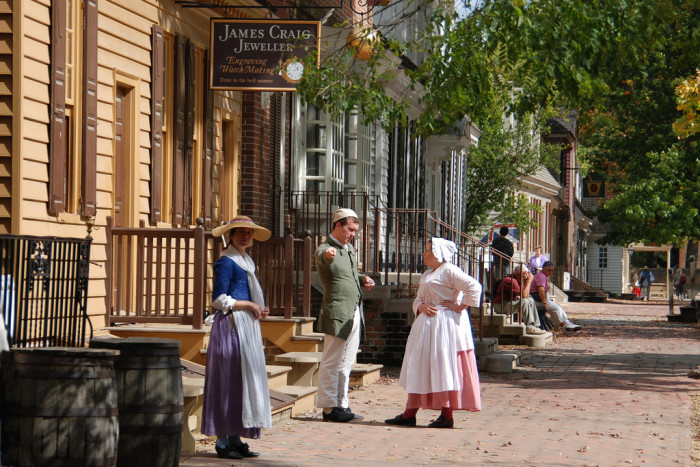 2. Be a part of living history in Colonial Williamsburg.