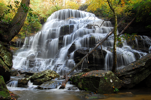 19) Yellow Branch Falls of Oconee, SC: Most people do not realize that South Carolina has waterfalls. This is just one of them...