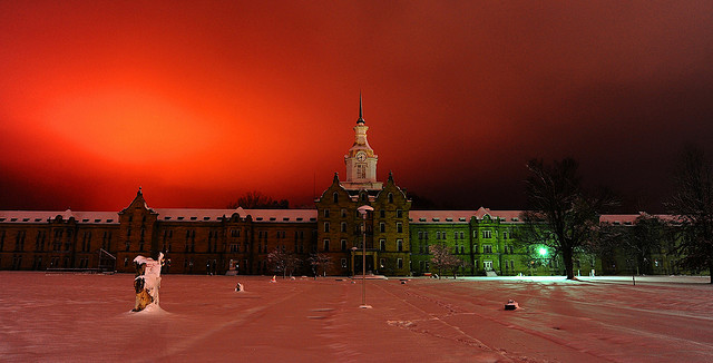 The Trans-Allegheny Lunatic Asylum, located in Weston, WV, is the largest, and by far the scariest, hand-cut stone masonry building in North America.