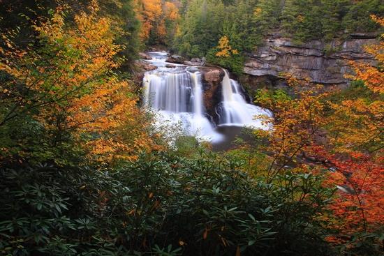 1) Blackwater Falls, located in Davis, WV.