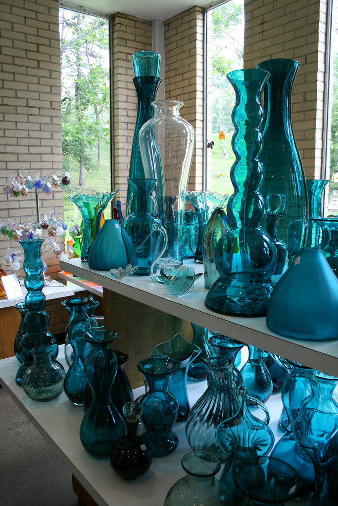 6) Blenko Glass Company, located in Milton, WV, is known for its stunning hand-blown glass pieces.