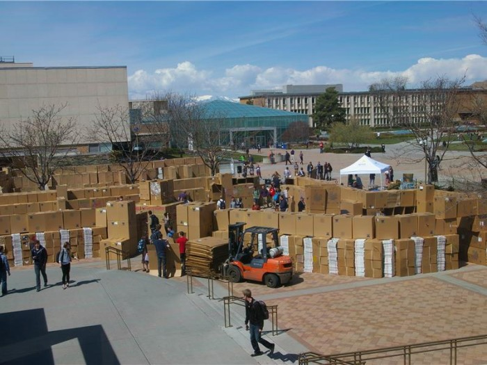 1) Well, Knoxville almost made it onto our list - but we thought it deserved a spot in the sun anyway. Up until 2012, UT held the record for the largest cardboard fort with 4,822 boxes. Bummer is? It was broken in 2014 by Nick Clark, who nearly tripled the cardboard box count with 12,301. We're still going to give Knoxville a pat on the back and say good job, buddy - good job.