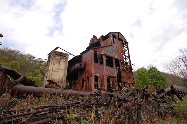 2) Pictured here is an abandoned factory in Cass, West Virginia.