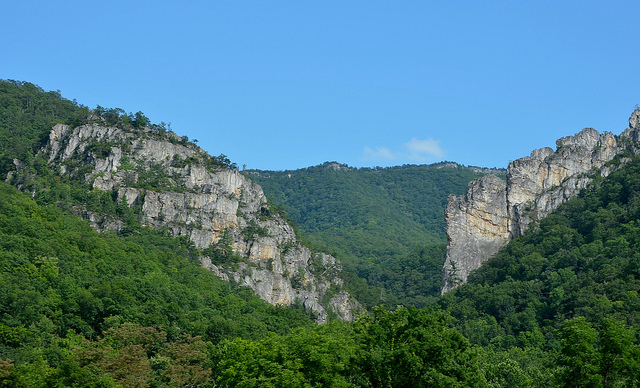 10) Champe Rocks, located in Pendleton County, WV, are a pair of large crags.