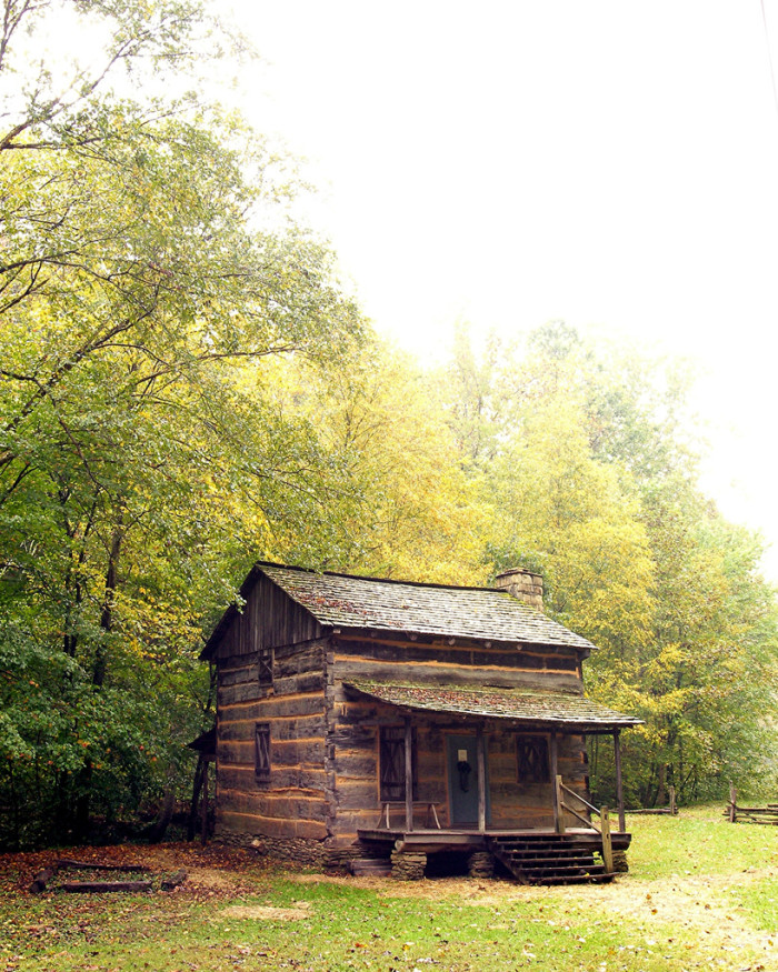 9) This cabin was built in the 1800s. It is located in Chief Logan State Park in Logan, WV.