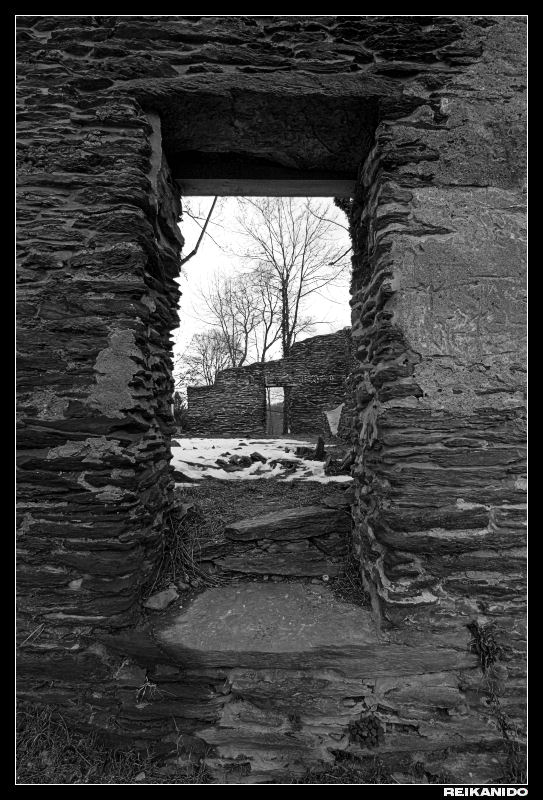 3) Looking through an old, abandoned church in Harpers Ferry, West Virginia.