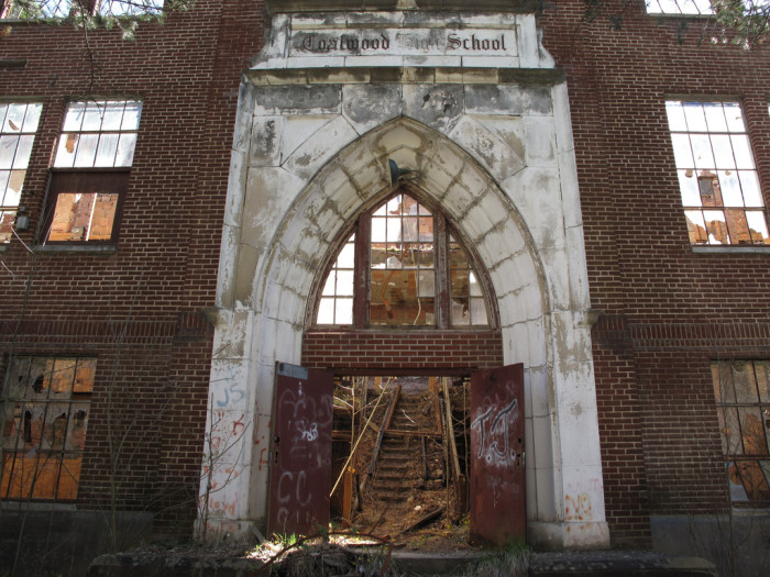 4) The old Coalwood High School is looking like the setting of a horror movie!