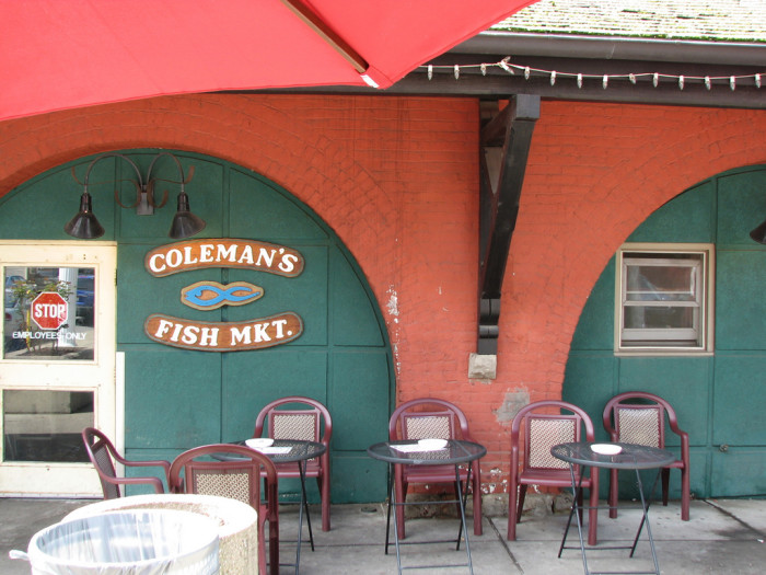 21) Coleman's Fish Market, located in Wheeling, WV.