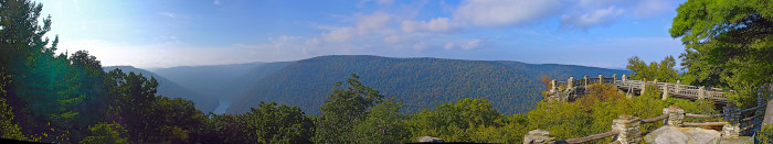 Coopers Rock State Forest was named after a legend of a fugitive that was hiding from the law close to the overlook. He was a skilled cooper and so he made barrels and sold them to the locals.